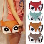 FREE SHIPPING Cute retro owl fox shoulder messenger hand bag